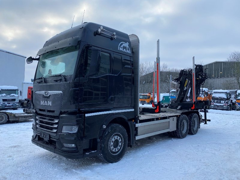 MAN TGX 33.580 6x4 EURO6 DO TRANSPORTU DRZEWA